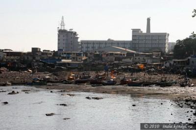 Mumbai, tu się wszystko zaczęło- dziś slumsy, osada rybacka.